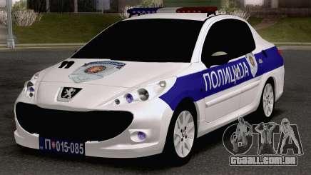 Peugeot 207 Policija para GTA San Andreas