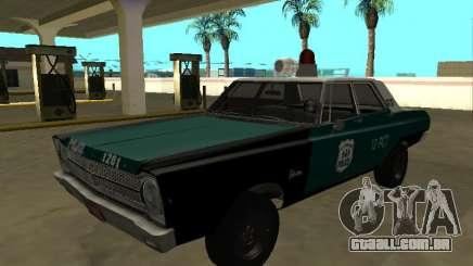 Plymouth Belvedere 4 door 1965 Old NYPD para GTA San Andreas