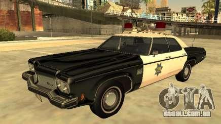 Oldsmobile Delta 88 1973 San Francis Police Dept para GTA San Andreas