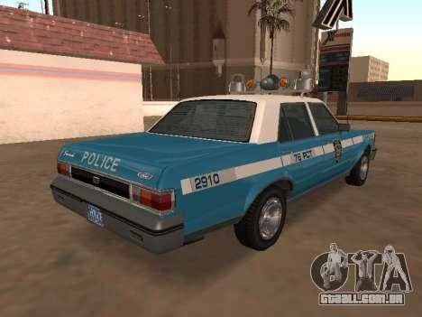 Ford Granada 1977 NYPD (Marbella GTA IV) para GTA San Andreas