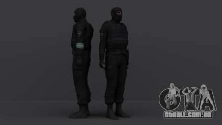 Um policial de choque usando uma máscara para GTA San Andreas