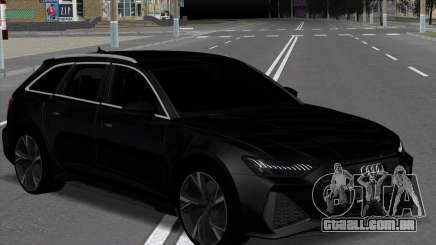 Audi RS6 Avant Black para GTA San Andreas
