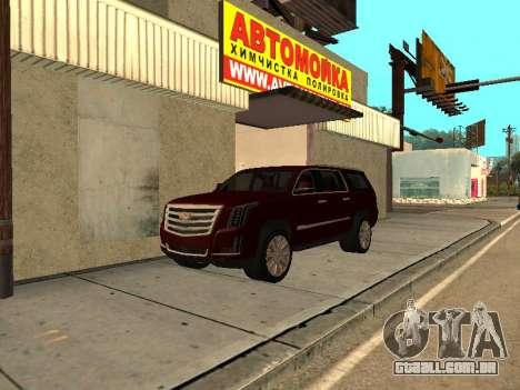 Cadillac Escalade 2019 final para GTA San Andreas