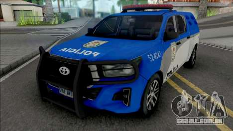 Toyota Hilux 2019 PMERJ Improved para GTA San Andreas