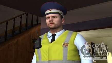 Oficial do DPS de camisa para GTA San Andreas