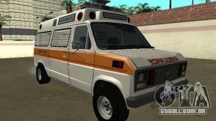 Ford Econoline E-250 1986 ambulance para GTA San Andreas