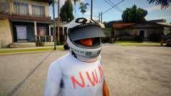 Racing Helmet Leopard para GTA San Andreas