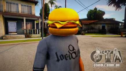 Burger Mask For CJ para GTA San Andreas