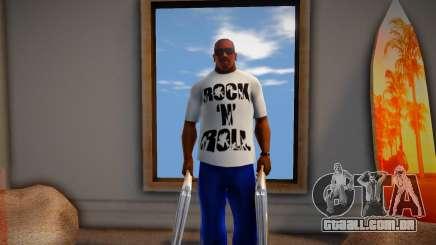 Rock n Roll T-Shirt para GTA San Andreas