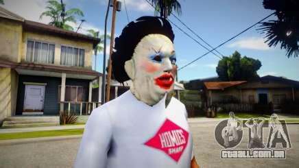 Lady - Leatherface Mask para GTA San Andreas