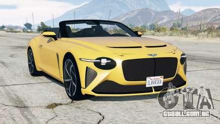 Bentley Mulliner Bacalar 2020 para GTA 5