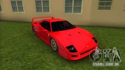 Ferrari F40 (Good car) para GTA Vice City