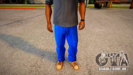 More Dark Blue Jeans For Cj And Grove Green Belt para GTA San Andreas