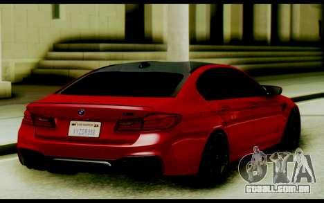 BMW M5 F90 Black Roof para GTA San Andreas