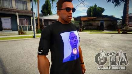 Travis Scott Black T-Shirt para GTA San Andreas