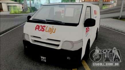 Toyota Hiace PosLaju Malaysian Van para GTA San Andreas