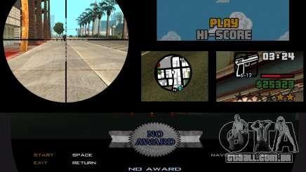 Projeto remasterizado de interface v0.3 para GTA San Andreas