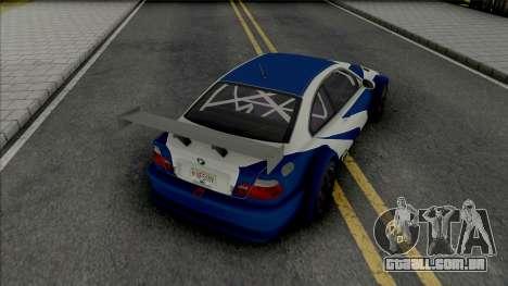 BMW M3 GTR [HQ] para GTA San Andreas