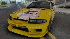 Nissan Skyline GT-R R33 (SA Lights) para GTA San Andreas