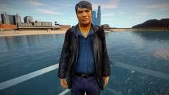Mafioso russo em jaqueta de couro para GTA San Andreas