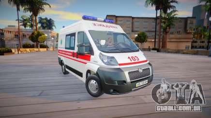 Peugeot Boxer Ambulance Ucrânia para GTA San Andreas