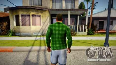 Green Plaid Shirt para GTA San Andreas
