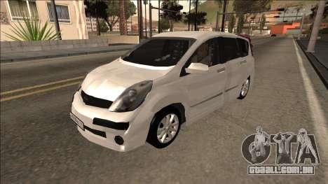 2007 Nissan Note para GTA San Andreas