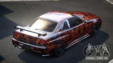 Nissan Skyline R34 PSI-U S4 para GTA 4