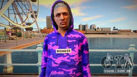 Purple sweatshirt ped from GTA Online para GTA San Andreas