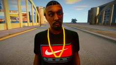 Afro-americano em camiseta nike para GTA San Andreas