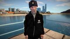Gopnik adulto em chapéu de inverno para GTA San Andreas