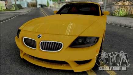 BMW Z4 M Coupe 2008 [IVF ADB VehFuncs] para GTA San Andreas