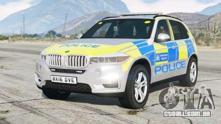 BMW X5 (F15) Polícia Metropolitana 〡 2015 para GTA 5