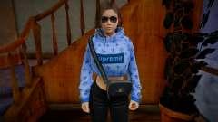 Samantha Samsung Assistant Virtual - Hoodie v3 para GTA San Andreas
