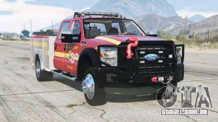 Ford F-450 Super Duty Crew Cab Utility Fire Truck 2013 para GTA 5