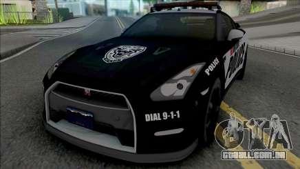Nissan GT-R Black Edition Police para GTA San Andreas