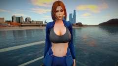 KOF Soldier Girl - Blue Brown Hair 5 para GTA San Andreas