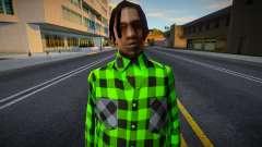 FAM2 em camisa xadrez para GTA San Andreas