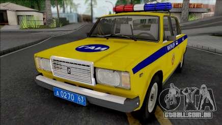 VAZ-2107 POLÍCIA DE TRÂNSITO Região de Samara para GTA San Andreas
