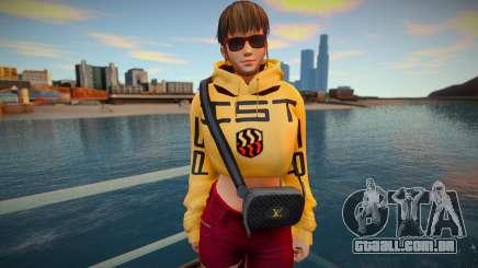 DOA Hitomi Fashion Casual DLC Los Santos Tuner 3 para GTA San Andreas