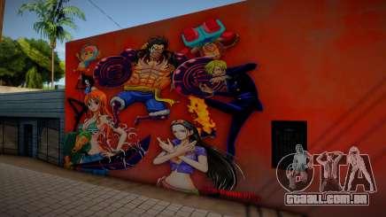 Mural One Piece para GTA San Andreas