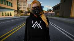 GTA Online Female Outher Style Alan Walker 2 para GTA San Andreas