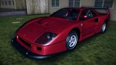 Ferrari F40 Competizione 1989 para GTA Vice City