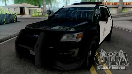 Ford Explorer 2017 LAPD para GTA San Andreas
